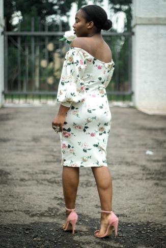 Demi Akin Floral dress dersire1709 Fashion