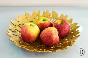 DIY Gold Fruit bowl with spray paint-1