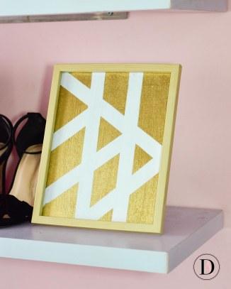 Easy DIY Geometric Picture Art Frame 4
